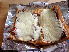 Easy and delicious snack, it's called a MOYETE. Take a piece of French bread, open it in half.  Spread refried beans (home made or canned) over it, top with mozzarella cheese. Bake at 425 degrees for 10 minutes  Enjoy!