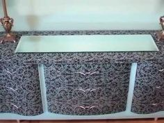 How to Mod Podge Furniture - YouTube