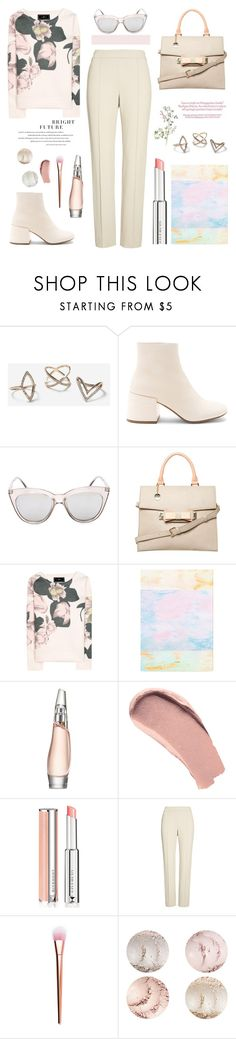 """""""Have To Buy Some New Clothes"""" by hiddensoulmemories ❤ liked on Polyvore featuring Topshop, MM6 Maison Margiela, Le Specs, Dorothy Perkins, By Malene Birger, Sweet and Sour, Donna Karan, Burberry, Givenchy and St. John"""