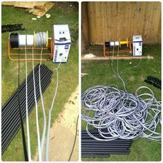 Installing 5 cable runs for a Harrison James Ltd garden room today,... 1 x TV aerial (coaxial), 2 x network cable (CAT6) & 2 x Alarm cable (8-core). All in all, over 375m of cable all to be installed in heavy duty conduit.   Updates to follow!