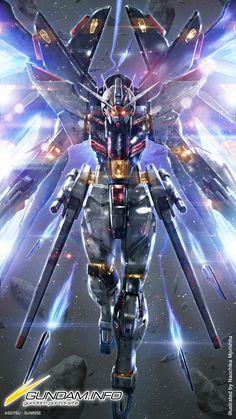 Strike Freedom Gundam by Naochika Morishita Art Gundam, Gundam Toys, Gundam 00, Gundam Wing, Wallpaper Pictures, Of Wallpaper, Gundam Iron Blooded Orphans, Robot Cartoon, Strike Gundam