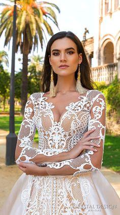 crystal design 2017 bridal long sleeves sweetheart neckline full embellishment lace glamorous a  line wedding dress sheer back royal train (ohara) zv