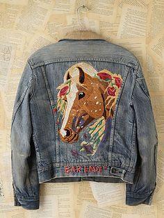 Vintage Embroidered Denim Jacket