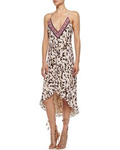 Embellished Leopard-Print High-Low Dress by Haute Hippie at Bergdorf Goodman.