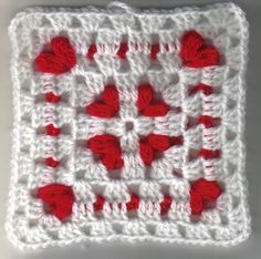 Cornered Hearts Square - Crochet A Trunk-Full O' Fun!