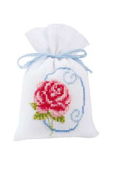 Kruidenzakje roze roos