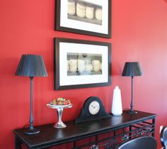 #Homedecor #accents in the #dining room of the Harrison model home at Arcadia Springs in Martinsburg, WV- http://arcadia-springs.com/arcadia-springs/our-homes/harrison-4-bedroom/ #black and #red