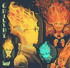 princebunbuns: no better way to practice coloring fire than drawing Grillby <v>