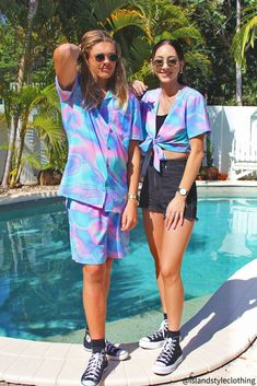 Matching Couples Set - 'Lucid Dreams' Mens Shirt & Shorts + Ladies Wrap Top. Perfect outfit for a music festival, luau or cruise. 100% Stretch Material. #hawaiianshirt #hawawaiianshirts #partyshirt #alohafriday #luaushirt #cruisewear #luciddreams #holographic #islandstyleclothing  #festivalshirt #festivalfashion  #couplesset #couplesgoals #matching #matchymatchy #matchingshirts #luau #beachparty #cruise #couplesgoals #honeymoon #lucid #holographic #australiaday #party #poolparty #psychedelic