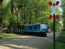 Die blaue EA-Lok der Dresdner Parkeisenbahn