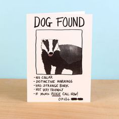 Dog Found Greetings Card Mistaken Identity