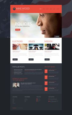 Template 49376 - Politics Responsive WordPress Theme