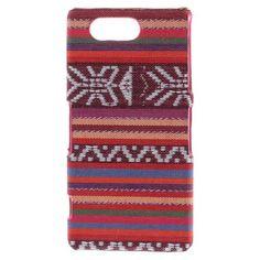 Javu - Sony Xperia Z3 Compact - Hoesje Back Case Hard Canvas Tribal Rood   Shop4Hoesjes