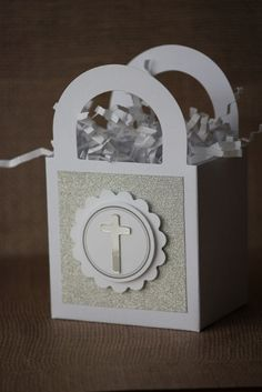 1x First Holy Communion/Baptism Favor Box by MyPrettyLittleParty, $1.25