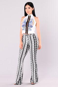 Lita Pants - Black/White