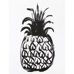 Black Pineapple Art
