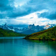 Torres del Paine National Park, Torres del Paine, Chile — by Miguel Vasquez. beatiful evening at the Torres del Paine, Chilean patagonia