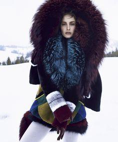 Ophélie Guillermand by Nathaniel Goldberg for Harper's Bazaar US October 2014