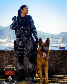 Airsoft is a competitive team shooting sport in which participants eliminate opposing players with spherical plastic projectiles launched via replica air weapons called airsoft guns. Military Working Dogs, Military Dogs, Military Women, Police Dogs, Military Police, Military Female, Female Police Officers, War Dogs, Female Soldier