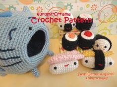 crochet pattern amigurumi Sushi Cat PDF guide by gurumiorama