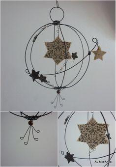 Boule en fil de fer recuit avec ses étoiles