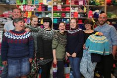 our last group,proudly representing their Icelandic sweathers. Workshop, David, Island, Pullover, Portrait, Selfies, Instagram Posts, Casual, Group