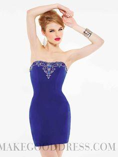 2014 Cheap Sheath / Column Strapless Short / Mini Elastic Woven Satin Homecoming Dresses