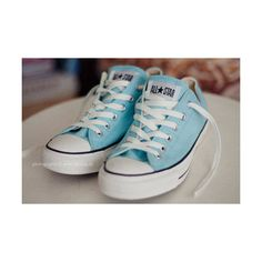 8 Creative and Modern Ideas Can Change Your Life: Converse Shoes With Rhinestones summer shoes vintage.Converse Shoes With Rhinestones. Converse All Star, Baby Blue Converse, Light Blue Converse, Mode Converse, Cheap Converse, All Star Shoes, Converse Sneakers, Pastel Converse, Vans