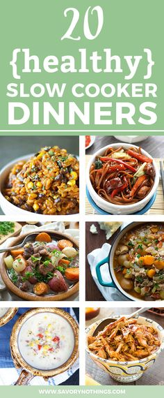 The holiday season is busy and full of treats, so let these 20 Healthy Slow Cooker Recipes for Family Comfort Food take over your dinner prep this winter! So easy to put together so you can enjoy a delicious homemade dinner.