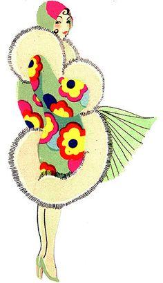 Ideas for fashion ilustration art deco flapper girls Art Deco Illustration, Fashion Illustration Vintage, Fashion Illustrations, Illustration Sketches, Art Nouveau Pintura, Vintage Posters, Vintage Art, Megan Hess, Art Deco Stil