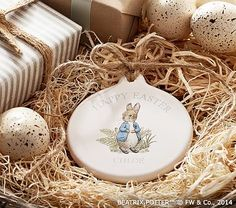 Baby's 1st Easter Peter Rabbit™ Personalized Disc Ornament #pbkids
