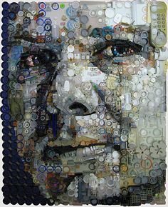 Found Object Assemblage Portraits by Zac Freeman on thisiscolossal.com Thanks @motionmind for pointing these out!