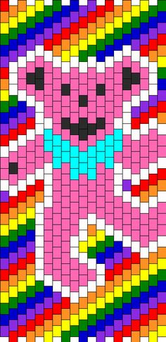 Grateful Dead Dancing Bear bead pattern