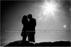 Cool silhouette winter engagement photo. Awesome! #arisingimages #engaged #creative #photography