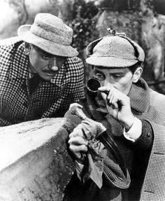 André Morell and Peter Cushing in The Hound of the Baskervilles directed by Terence Fisher, 1959