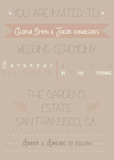 #WeddingInvitations at Lovelyyellowhouse.com
