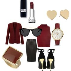 Untitled #315 by sarahepburn28 on Polyvore featuring polyvore fashion style Glamorous Theory Dorothy Perkins Balmain FOSSIL Kate Spade Smoke & Mirrors