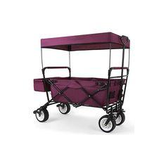 """""""NEU"""" FUXTEC faltbarer Bollerwagen inLILA (Purpur)    mit Sonnendach, Hecktasche und zusätzlicher Tragetasche zum Transportieren """" Erleichtern Sie sich alle Arten von Transporten mit dem optimierten Bollerwagen..."""
