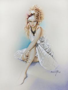 """Silvie"" Painting in Oils by Sara Moon"