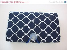 SALE  COUPON  Organizer  Holder  Keeper   navy white by Laa766
