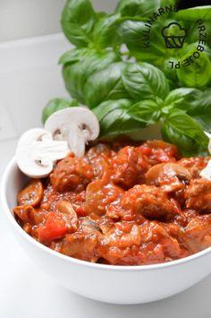 bigos po cygańsku Sauerkraut, Chana Masala, Curry, Good Food, Food And Drink, Menu, Tasty, Healthy Recipes, Homemade