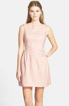 Aidan by Aidan Mattox Lace Fit & Flare Dress (Nordstrom Online Only) available at #Nordstrom