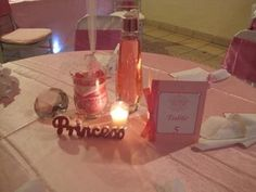 pretty in pink with bling baby shower table centerpiece