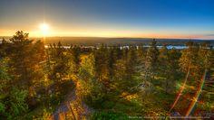 Midnight Sun, Rovaniemi, Finland. June, 2013. 11pm.