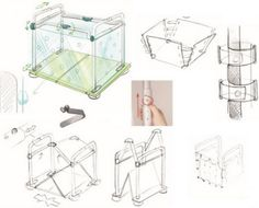 """Preliminary Industrial Design Sketches and concepts for the """"Bath and Play"""" bathtub play structure insert for toddles"""