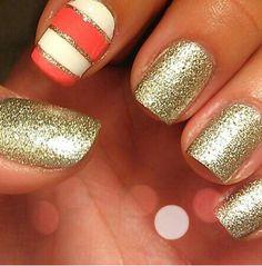 diseño de uñas naturales pintadas.