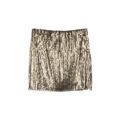Square Paillette Golden Brown Skirt ❤ liked on Polyvore