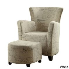 Alicia-Club Chair with Ottoman - Overstock™ Shopping - Great Deals on Living Room Chairs