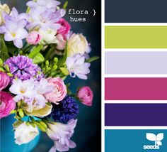 more flora hues Color Palette - Paint Inspiration- Paint Colors- Paint Palette- Color- Design Inspiration