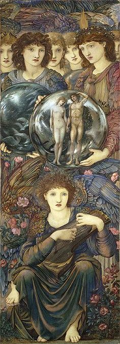 "ARTIST: Edward Burne-Jones (English Pre-Raphaelite Painter, 1833-1898) ~ ""The Days of Creation - The Sixth Day"""